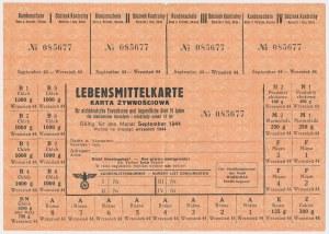 GG, Karta żywnościowa, Wrzesień 1944