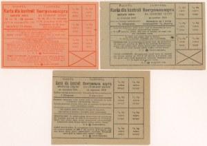 Galicja 1916-1918, Karty kontroli spożycia cukru (3szt)