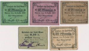 Mewe (Gniew), od 10 do 50 pfg 1918 (5szt)