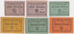 Konitz (Chojnice), 5, 10, 20 i 50 pfg 1918-1920 (6szt)