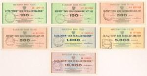 Depozytowy Bon Rewaloryzacyjny 100-10.000 zł (7szt)