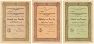 Torun (Toruń), Eerwaarde Paters Redemptoristen, 1927 r. - blankiety (3szt)
