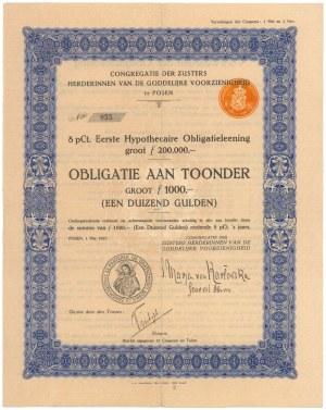 Posen (Poznań), Zusters Herderinnen Van De Goddelijke..., 1.000 gulden 1927
