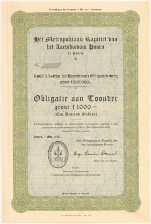 Posen (Poznań), Het Metropolitaan Kapittel..., 1.000 gulden 1928 - blankiet