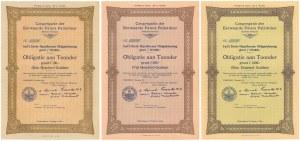 Wadowice, Polski Okręg Stowarzyszenia Misyjnego Księży Pallotynów, 1928 r. - blankiety (3szt)