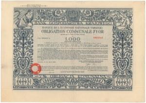 Bank Gospodarstwa Krajowego, 7% Obligacja Komunalna, Em.2, 1.000 franków 1930