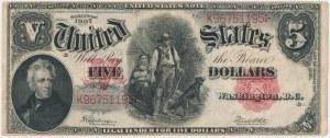 USA, 5 dollars 1907