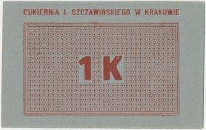Kraków, J. SZCZAWIŃSKIEGO Cukiernia, 1 korona (1919)