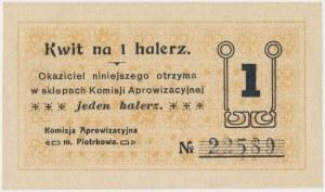 Piotrków, Komisja Aprowizacyjna, 1 halerz