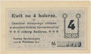 Piotrków, Komisja Aprowizacyjna, 4 halerze