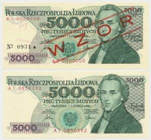 5.000 złotych 1986 - AY - wzór i obiegowy (2)