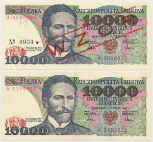 10.000 złotych 1987 - A - wzór i obiegowy (2)