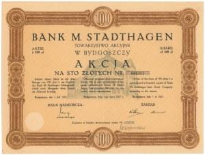 Bank M. Stadthagen w Bydgoszczy, 100 zł 1927