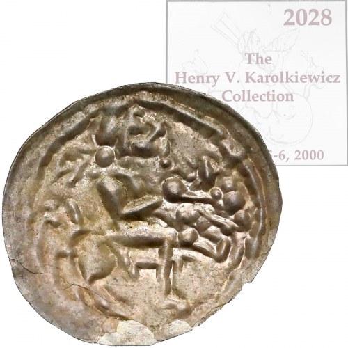 Mieszko III, Brakteat łaciński - książe na koniu - ex. KAROLKIEWICZ
