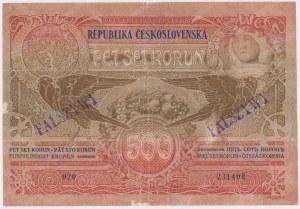 Czechosłowacja, 500 korun 1919 - FAŁSZYWY