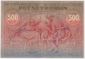 Czechosłowacja, Falsyfikat 500 korun 1919