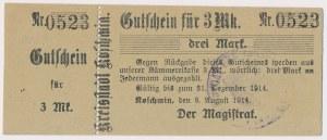 Koschmin (Koźmin), 3 mk 1914