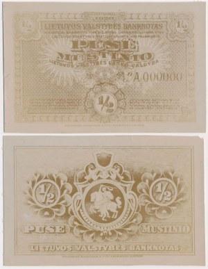 Litwa, FOTO-PROJEKT 1/2 mustinio 1920 (awers i rewers)