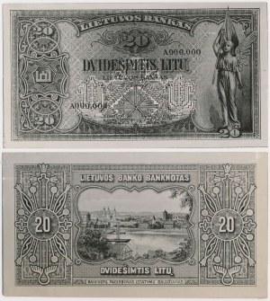 Litwa, FOTO-PROJEKTY 20 litu 1930 (awers i rewers)