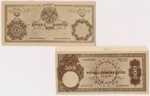 Litwa, FOTO-PROJEKTY 500 litu 1925 (awers i rewers)