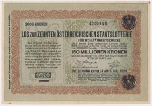 Austria, 10.000 Kronen = 3.000 Kronen ND