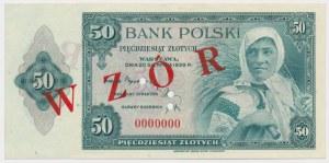 ABNCo 50 złotych 1939 - WZÓR 00000