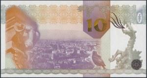 PWPW, Kraków (2010), hologram DUŻE 10, druk FIOLETOWY