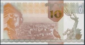PWPW, Kraków (2010), hologram DUŻE 10, druk BRĄZOWY