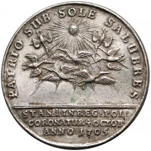 Stanisław Leszczyński, XIX-wieczna KOPIA medalu koronacyjnego 1705