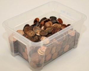 11.23 kg monet 1 penny - Wielka Brytania