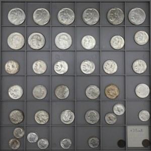 IIRP zestaw PIĘKNYCH monet, głównie srebrne 1925-39, w tym na MS (39)