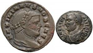 Galeriusz i Licyniusz, zestaw follisów (2szt)