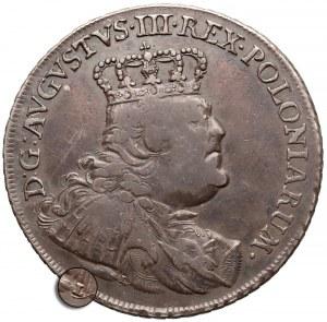 August III Sas, Talar Lipsk 1754 EDC - z literą L - rzadki