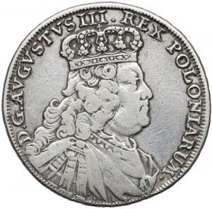August III Sas, PÓŁTALAR Lipsk 1754 EDC - bardzo rzadki