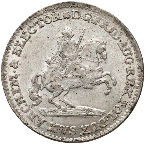 August III Sas, Dwugrosz wikariacki 1741 - b. ładny