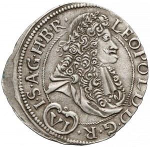 Węgry, Leopold I, 6 krajcarów 1692 NB, z P-O