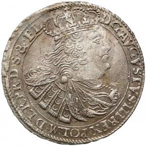 August III Sas, Ort Gdańsk 1760 REOE - 18 w wieńcu