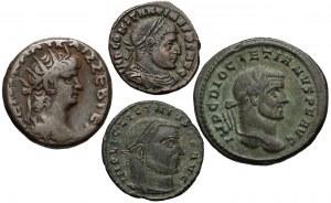Neron, Dioklecjan, Konstantyn I i Licyniusz I, zestaw (4szt)