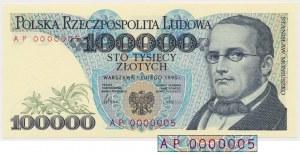 100.000 złotych 1990 - AP 0000005