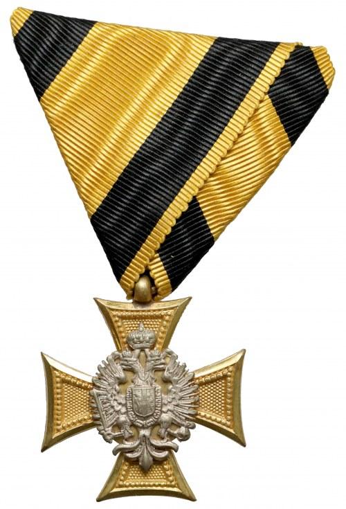 Krzyż za Długoletnią Służbę dla Oficerów, Klasa III za 25 Lat - piękne wykonanie z masą perłową