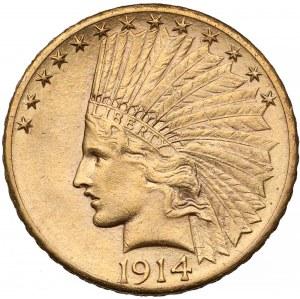 USA, 10 dolarów 1914-D