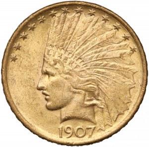 USA, 10 dolarów 1907 - bez motto