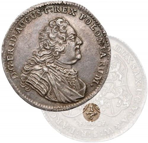 August III Sas, 1/6 talara 1746 FWóF, Drezno - RZADKA