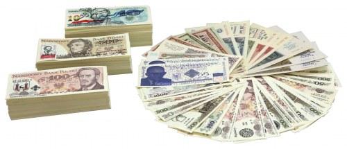 Kolekcja kilkuset sztuk banknotów z nadrukami, głównie PRL