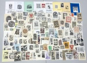 Ekslibrisy numizmatyczne KOLEKCJA 140szt + 8szt katalogów