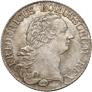 Prusy, Fryderyk II Wielki, 1/3 talara 1773-A - piękne