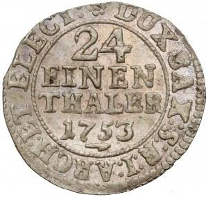 August III Sas, 1/24 talara 1753 FWóF, Drezno - mennicze