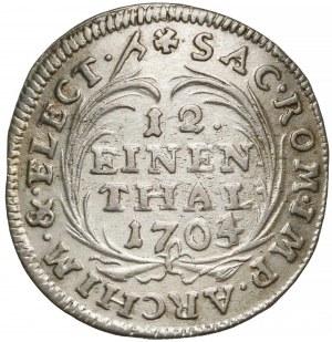 August II Mocny, 1/12 talara 1704/3 ILH, Drezno - przebitka