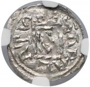 Bolesław IV Kędzierzawy, Denar - Relikwiarz - NGC MS61