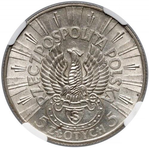 Strzelecki, Piłsudski 5 złotych 1934 - NGC MS62